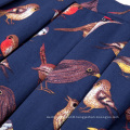 Kate Kasin Women's Birds Pattern Elastic Waist Pleated Cotton High-Low Skirt KK000805-1