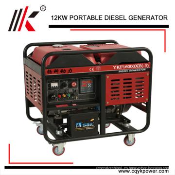 generador diesel portátil 15 KVA generador trifásico refrigerado por aire generador 15kva