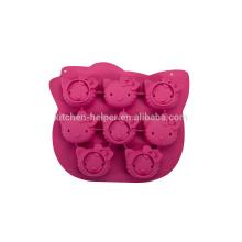 Molde de Bolo de Silicone Hello Kitty