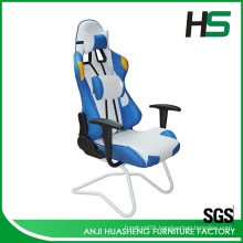 White and Blue Cold Ice Winter style gaming Racing Chair