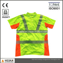 Heat Transfer Tape Safety Polo Shirt