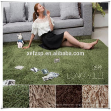 chinese hotel designer waterproof long hair shaggy rug pad
