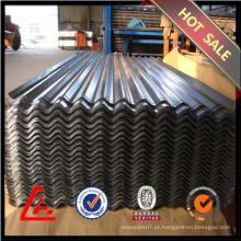 0,25 milímetros chapas de aço ondulado / chapa de aço galvanizado / cobertura metálica GI