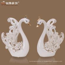 2016 новое прибытие животных свадебную тему керамические подарок в форме лебедя
