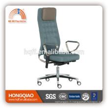 CM-B199AS haut retour fabirc pivotant ascenseur en acier inoxydable accoudoir chaise de bureau