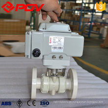 high quality PPH flange connection ball valve