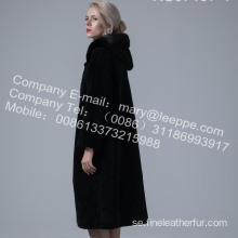 Reversible Australia Merino Shearling Long Coat Lady