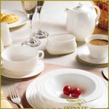 10 PCS Weißes Porzellan Dinner Set Elegant Euro Lines Serie