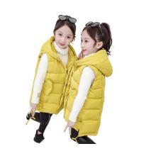 Зимний утепленный утепленный жилет без рукавов на молнии для девочек