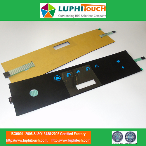 Coffe Machine LGF Backlight Membrane Keypad