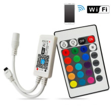 Free shipping Mini WiFi RGB LED Strip Controller For Phone Smartphone Tablet + 24 Keys Remote Controller