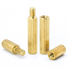 Brass M2 Motherboard PCB Male-female Standoff Spacers Round Knurled Male Female Threaded Standoff