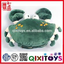 O melhor presente para o inverno frio Crab deu forma ao aquecedor bonito enchido e do luxuoso do brinquedo da mão