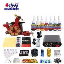 Solong TK105-36 kit de tatuaje para principiantes 1 Pro Gun 7 colores de tinta fuente de alimentación Needle Grip Tip Kit de máquina de tatuaje para tatuador