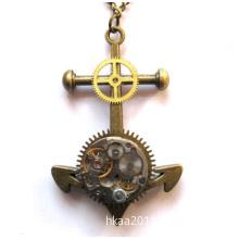 OEM Custom Brass Living Clock Gear Desk Clock
