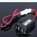 Auto Car 2.1A Dual USB Port Charger Dashboard Mount for Phone + Audio Input for Toyota Vigo