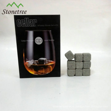 Bar Accessories Customized Bali Natural Lava Whiskey Stone With Bag