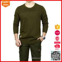 Jersey militar vendedora caliente del jersey del suéter del verde verde oliva del suéter del combate