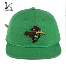 personalizado bordado liso negro snapback gorras sombreros al por mayor