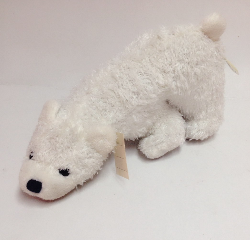 White polar bear pet toy