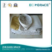 Saco de filtro industrial da fibra de vidro do coletor de poeira da aplicação da fundição