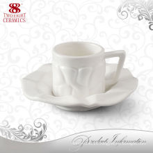 wholesale beautiful ceramic white cup and mug with tray for wedding / gift