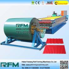 FX automático para painéis de parede de cobertura máquina de formação de rolos de camada dupla
