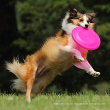 Im Freientraining-Haustier-Silikon-Material-werfendes springendes Hundespielzeug