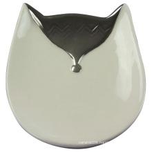 Fox Shaped Ceramic Tray, Ceramic Craft for Home Decoration
