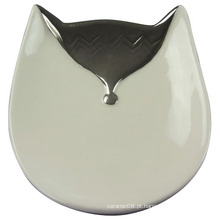 Bandeja de cerâmica em forma de Fox, artesanato de cerâmica para decoração Home