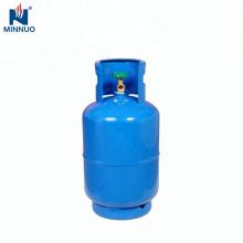 Tanque del cilindro del propano del gas del lpg de acero vacío 25LBS para el mercado de dominica