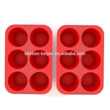 Professionelle Hersteller Hochwertige Fabrik Preis Lebensmittel Klasse Non-Stick Silikon Muffin Pan Silikon Muffin Backform
