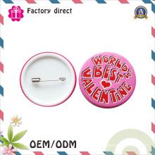 Boutons de boutons en fer blanc à bas prix Boutons de badges en métal faits sur commande en gros à la main