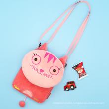 Custom 3D Cartoon Plush Toy School Bag Animal Kids Backpack Trendy Kindergarten Schoolbag Children's Shoulder Bag