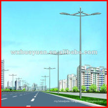 Conical outdoor light post with 2 arms