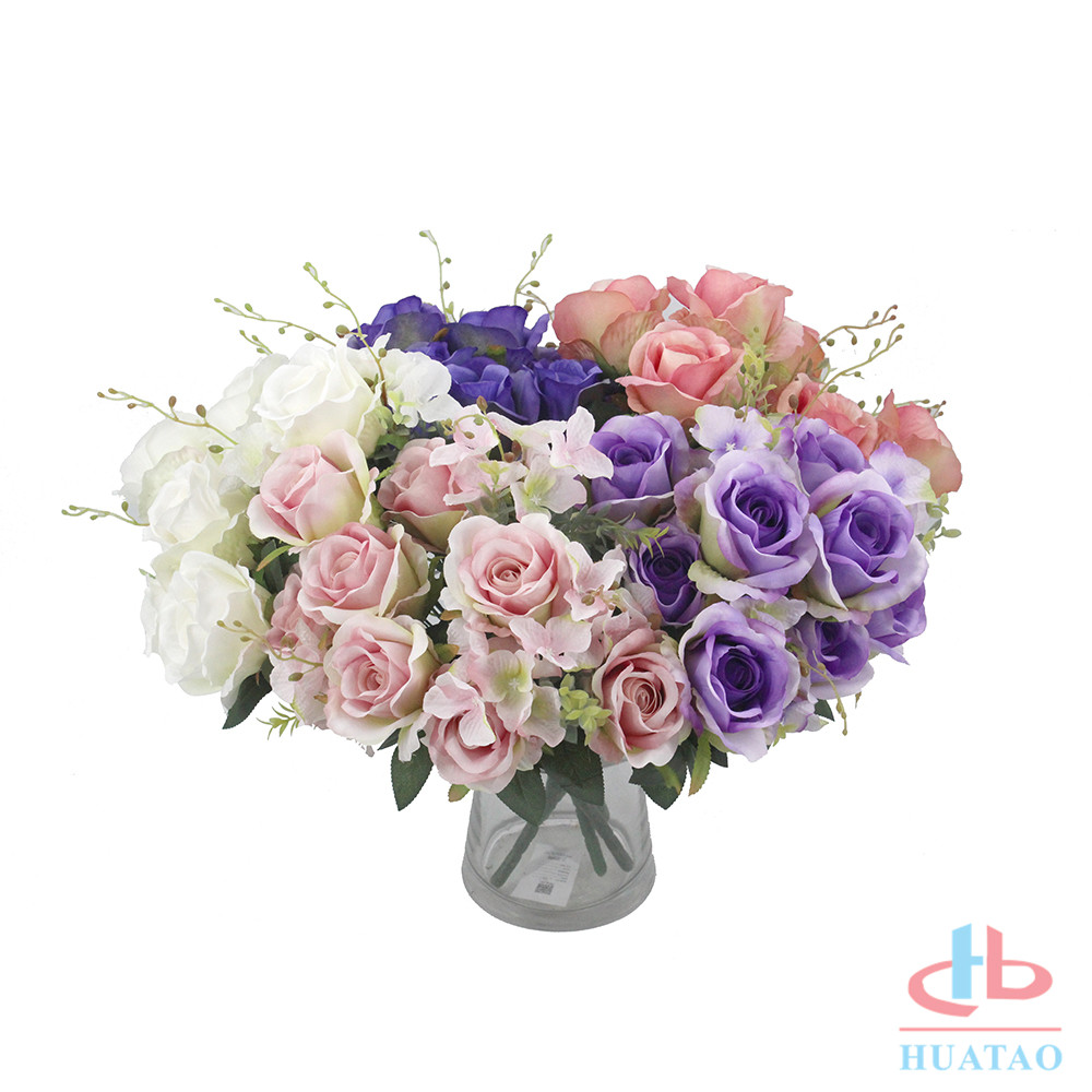 Wedding-Decor-flower-artificial-rose-flower-bouquet (2)