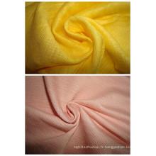 Tissu de mode Ramie Single Jersey Slub