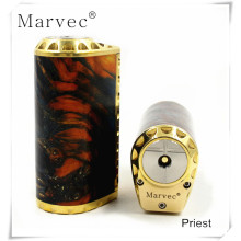 Customized for Stabilized Wood Vape,E Cigarette Vape,Voltage Control Vape Manufacturers and Suppliers in China Priest stable wood brass material custom vape mods export to Italy Factory