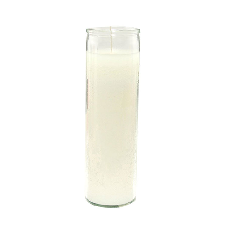 8 inch glass candle