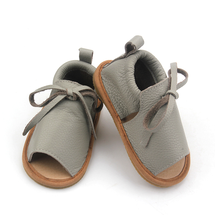 kids summer sandals leather hard sole