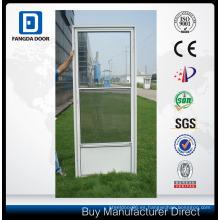 Puerta de tormenta de vidrio intercambiable de media vista de fácil instalación