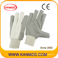 Drill Cotton Dotted Sewed Industrial Hand Safety Work Gloves (410021)