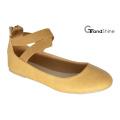Повседневная обувь из эластичного пояса плоского балета женщин