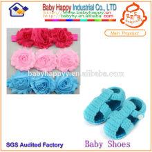 Großhandel gestrickte Baby Schuh und Stirnband