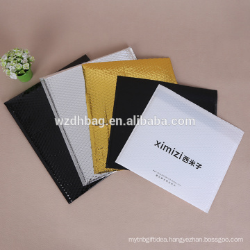 Size customized pearlescent coating bubble bag air mailer for courier and cloth packaging