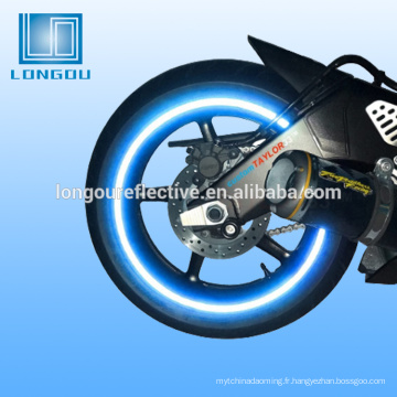 Bande réfléchissante de vélo de bicyclette ou casque réfléchissant de moto de bande