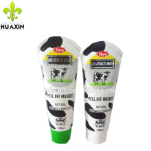 D40mm special hot sealing plastic cosmetic tube with cow printing
