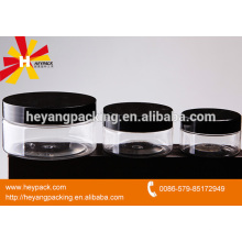 Various capacity plastic canning jars with screw cap