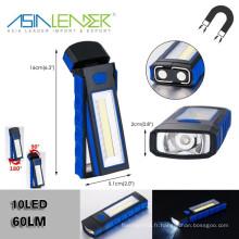 4 * AAA Battery 350LM 3W COB + LED Flashlight de travail