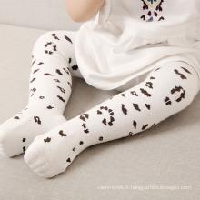 Collants en coton imprimé léopard pour enfants (TA608)